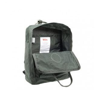 Рюкзак Канкен Классик тёмно-зеленый внутри 1