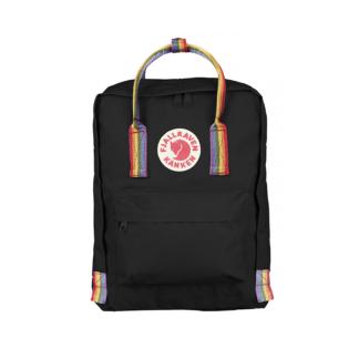 Рюкзак Канкен черный с радужными ручками спереди