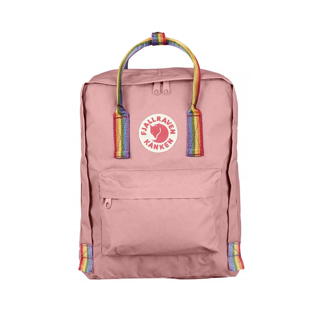Рюкзак Канкен розовый с радужными ручками спереди