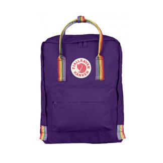 Рюкзак Канкен фиолетовый с радужными ручками спереди