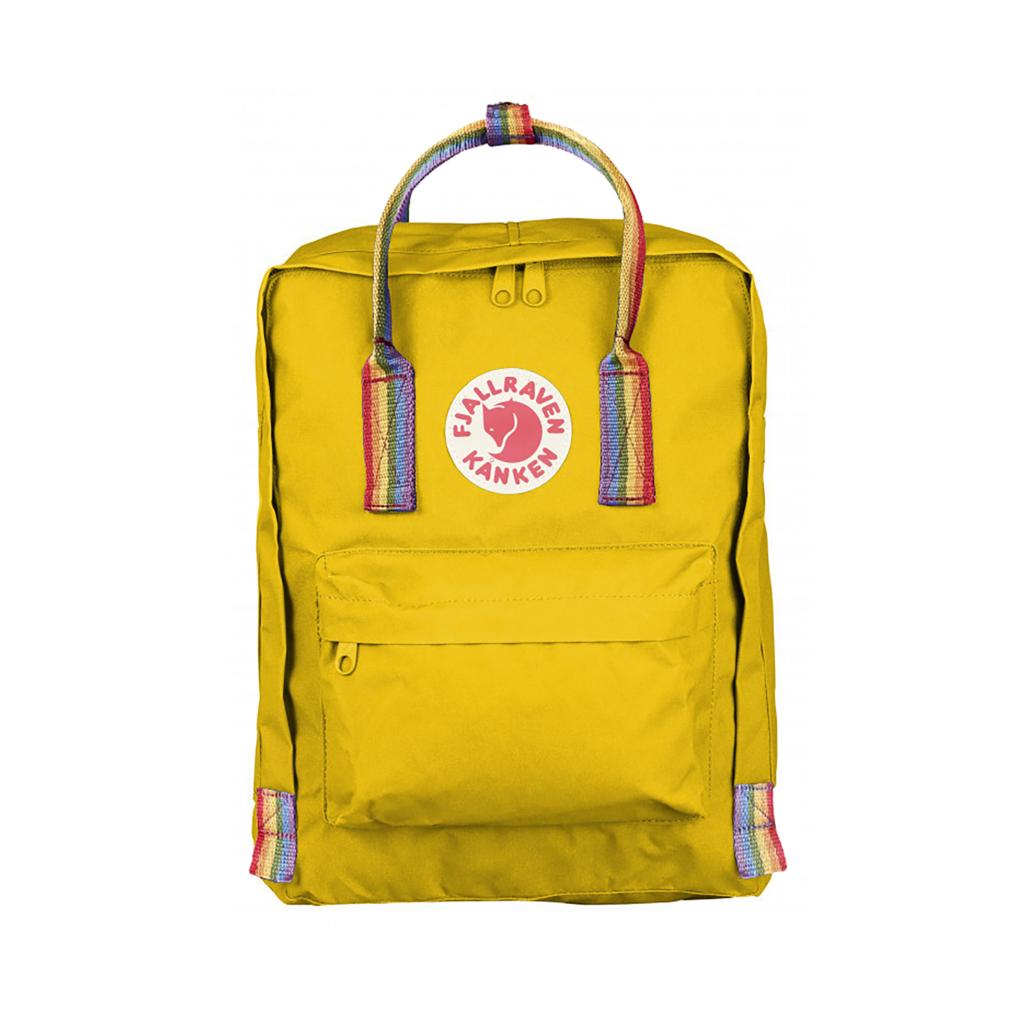Рюкзак Канкен желтый с радужными ручками