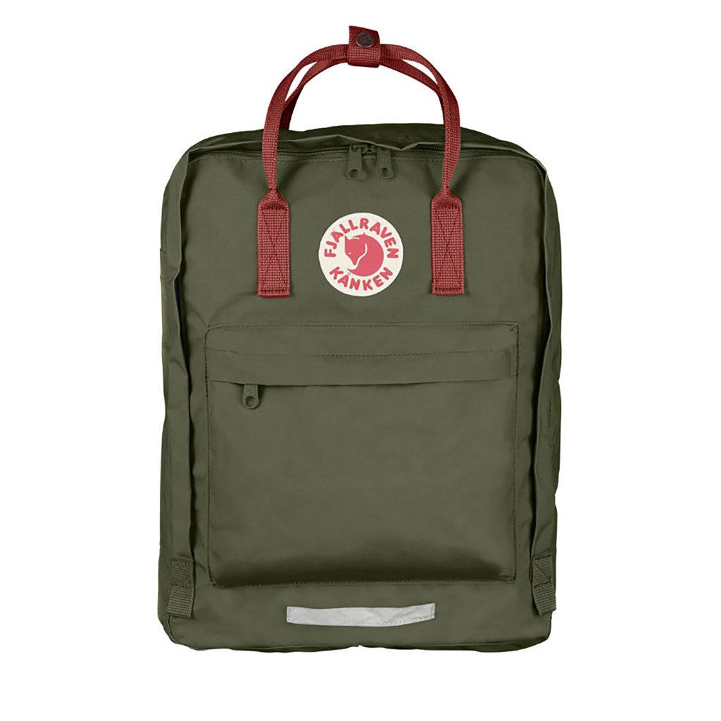 Рюкзак Kanken Big Forest Green-Ox Red спереди