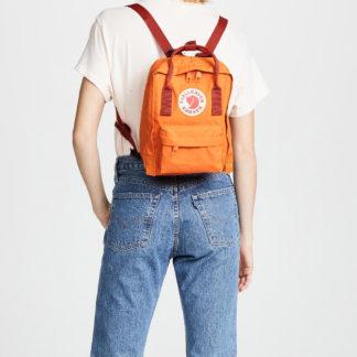 Рюкзак Канкен Мини оранжевый на модели