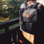 Рюкзак Kanken Foldsack No 1 Black живое фото
