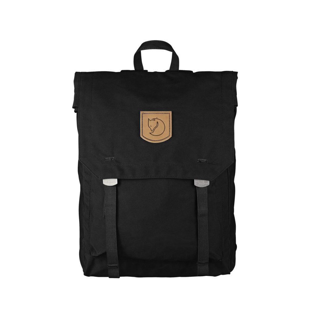 Рюкзак Kanken Foldsack No 1 Black спереди
