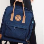 Рюкзак Kanken No 2 Navy на человеке