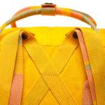 Рюкзак Канкен Классик желтый с полосатыми ручками лямки
