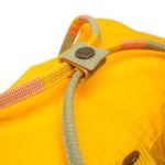 Рюкзак Канкен Классик желтый с полосатыми ручками