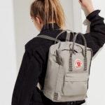 Серый рюкзак Канкен с полосками на модели