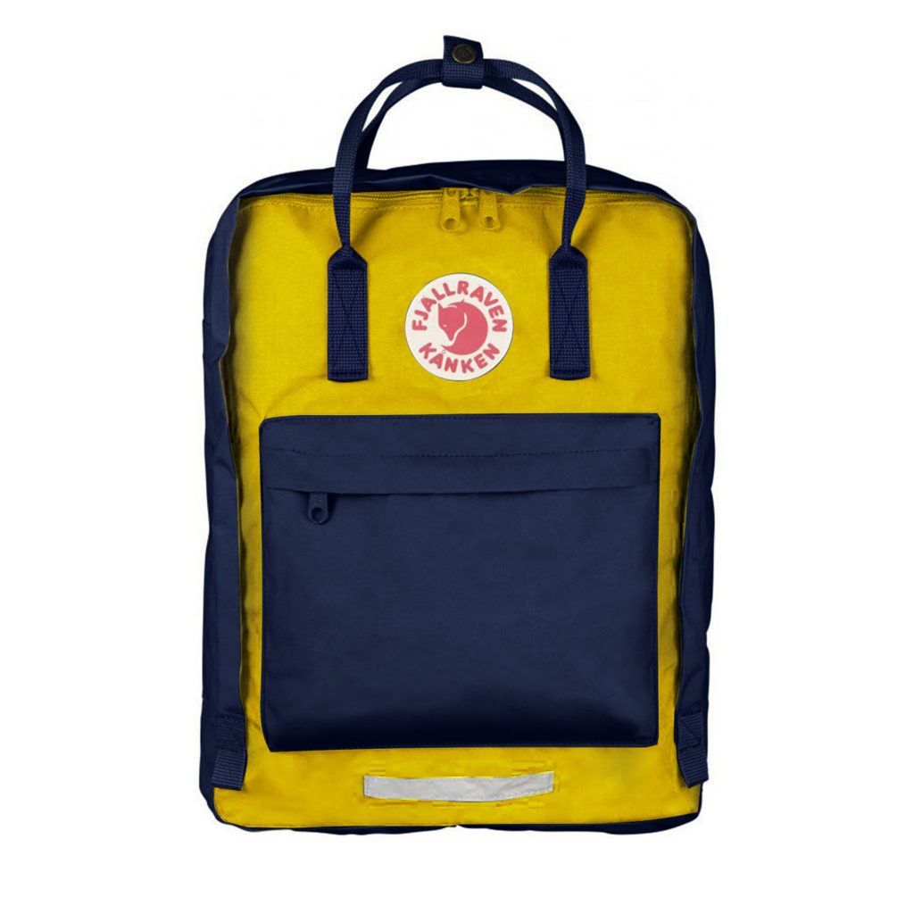 Рюкзак Kanken Big Navy-Warm Yellow спереди