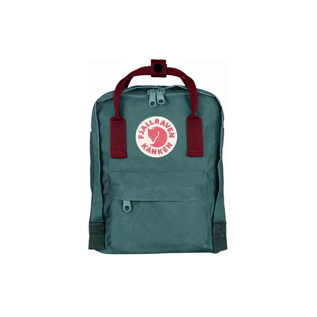 Рюкзак Kanken Mini Frost Green-Ox Red спереди