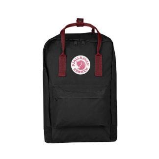 Черный рюкзак Канкен Лаптоп c бордовыми ручками спереди