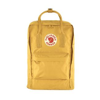 Желтый рюкзак Канкен Лаптоп с розовыми ручками спереди